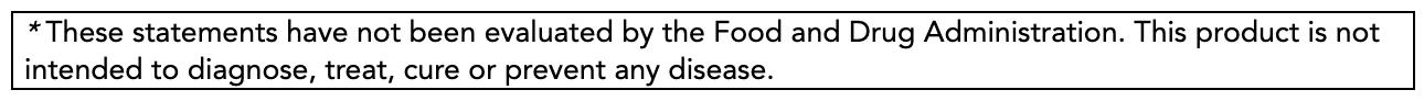 FDA Disclaimer Box